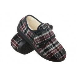 Pantofi de casa, imblaniti, pentru femei, Mjartan 851-K78 carouri