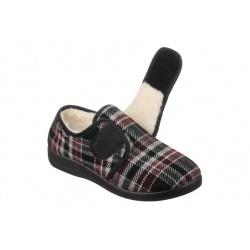 Pantofi de casa, imblaniti, pentru femei, Mjartan 851-K78 reglabili cu arici/scai
