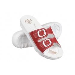 Papuci ortopedici femei Mjartan 2205-P06 rosu / bordo