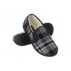 Pantofi de casa imblaniti Mjartan 823K93 femei carouri gri