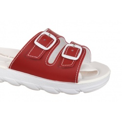 Papuci ortopedici Mjartan 2205-P06 Mjartan rosii reglabili