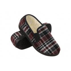 Pantofi de casa imblaniti, femei, Mjartan 823K78 carouri