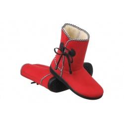 Cizme dama imblanite cu lana Mjartan 027-T71L rosii
