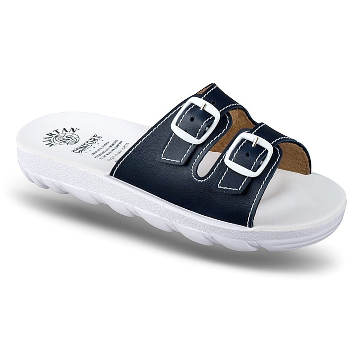 Papuci ortopedici femei Mjartan 2205-P16 bleumarin