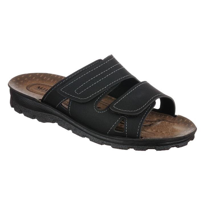 Papuci negri barbati Mjartan 2914-N18