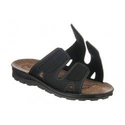 Papuci negri barbati Mjartan 2914-N18 reglabili