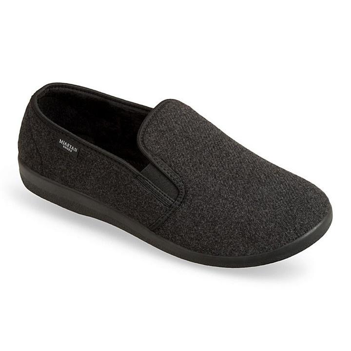 Pantofi de casa, femei, barbati, Mjartan 623-C51 gri antracit