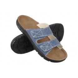 Papuci ortopedici barbati Mjartan 3004-T31 albastri