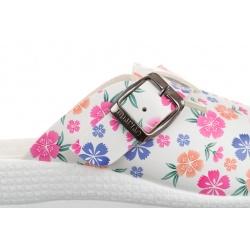 Saboti medicali femei Mjartan2214-P13 albi cu floricele