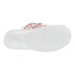 Talpa saboti medicali femei Mjartan2214-P13 albi cu floricele roz