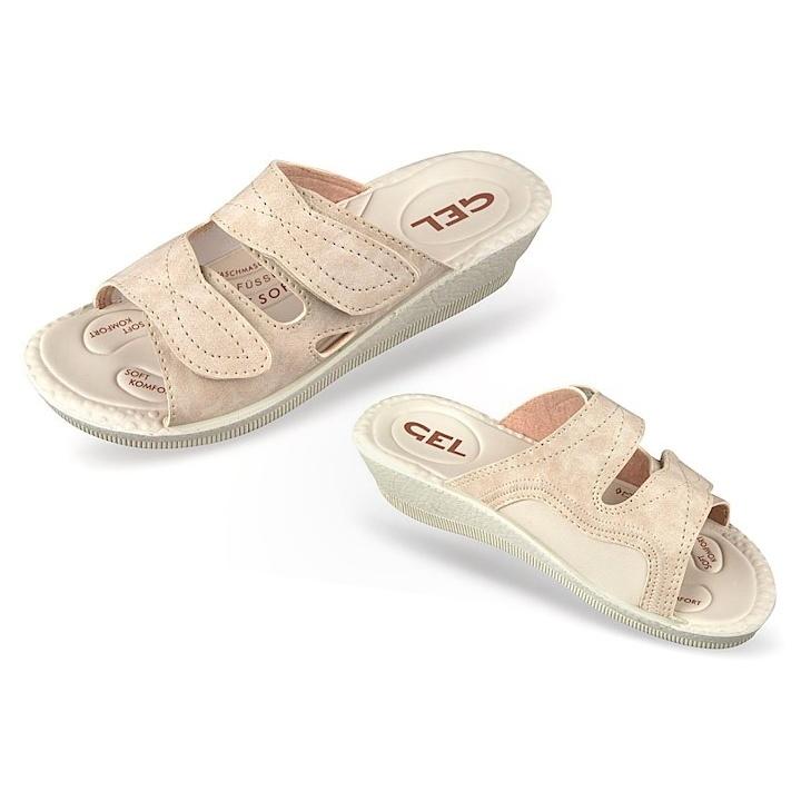 Papuci femei, pentru Hallux Valgus, bej, Mjartan 2817-N13-N08 brant gel