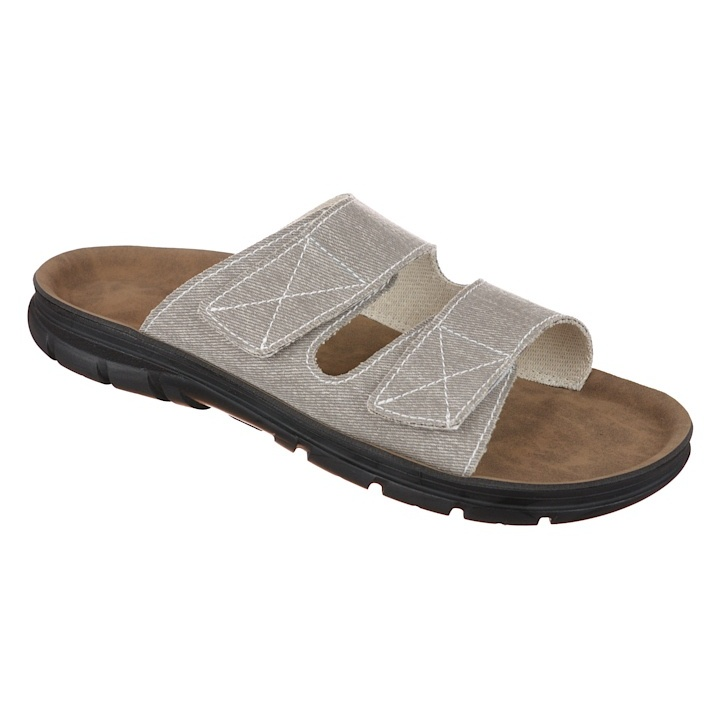 Papuci ortopedici, gri deschis, barbati Mjartan 3004-T29