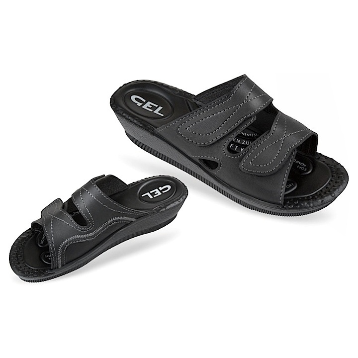 Papuci ortopedici negri, femei, Mjartan 2817-P02
