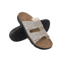 Papuci ortopedici barbati Mjartan 3004-T29 gri deschis