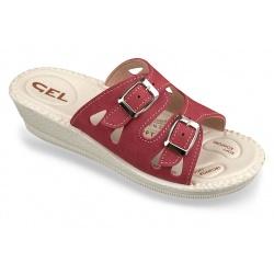 Papuci de vara, bordo, Mjartan 2802-N16B brant gel