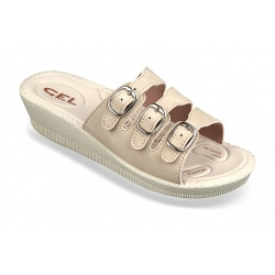 Papuci ortopedici, bej, Mjartan 2808-N13 brant gel