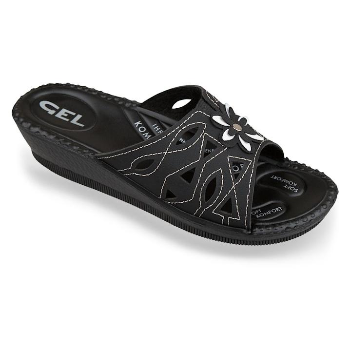 Papuci de vara ortopedici negri dama Mjartan 2812-N18