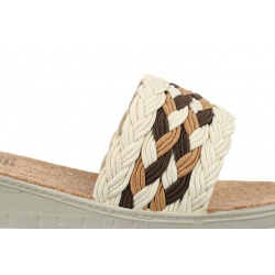 Papuci dama Mjartan albi 2501 Z07 talpa pluta