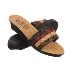Papuci femei Mjartan 2501 Z03 multicolori talpa pluta