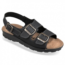 Sandale negre ortopedice barbati Mjartan 2915-N18