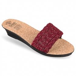 Papuci dama Mjartan 2501 Z02K bordo cu talpa pluta