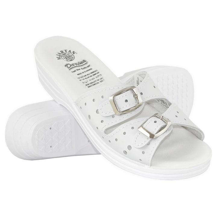 Papuci de vara dama 9017-P03 albi, reglabili