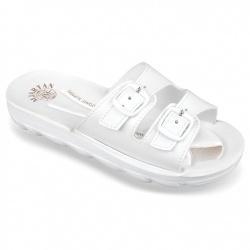 Papuci de vara albi ortopedici dama Mjartan 2205-P03 albi