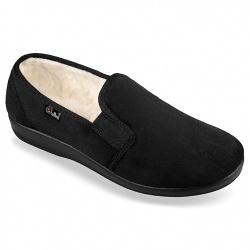 Pantofi de casa imblaniti, barbatesti, OrtoMed 824-T44 negri