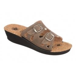 Papuci de vara dama Mjartan 2802-N14K maro deschis