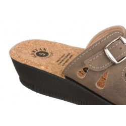 Papuci de vara dama Mjartan 2802-N14K maro deschis brant pluta naturala