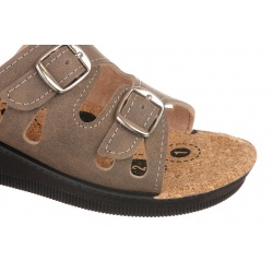 Papuci de vara dama Mjartan 2802-N14K maro deschis reglabili