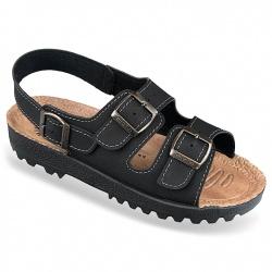 Sandale barbati negre Mjartan 9008-N18 brant soft
