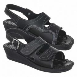 sandale pentru monturi dama ortopedice negre Mjartan 2815-P02