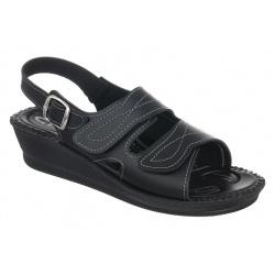 sandale pentru monturi ortopedice dama  negre Mjartan 2815-P02