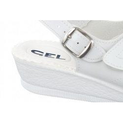 sandale dama albe brant GEL Mjartan 2815-P03