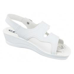 sandale pentru monturi Hallux Valgus ortopedice dama Mjartan 2815-P03 albe
