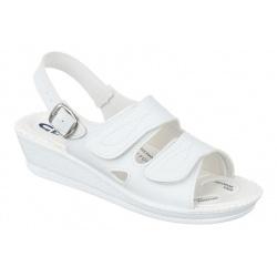 sandale pentru monturi Hallux Valgus dama ortopedice albe Mjartan 2815-P03