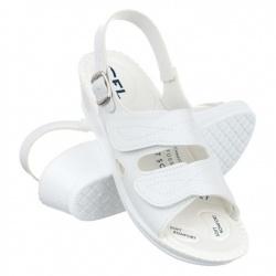 sandale pentru Hallux Valgus dama ortopedice albe Mjartan 2815-P03