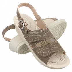 sandale pentru Hallux Valgus dama ortopedice maro Mjartan 2815-N14