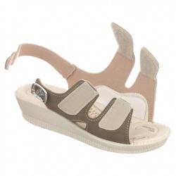 sandale pentru monturi ortopedice dama reglabile cu arici Mjartan 2815-N14 maro