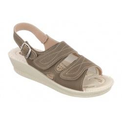 sandale dama ortopedice maro Mjartan 2815-N14 pentru monturi