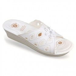 Papuci de vara albi ortopedici dama Mjartan 2812-N12