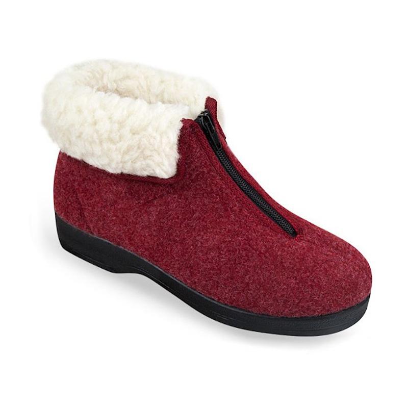 Botosei imblaniti cu lana pentru femei Mjartan 8075-T05 bordo