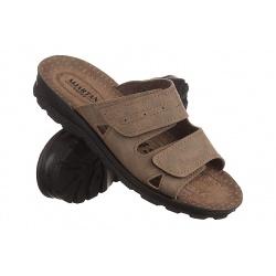 Papuci barbati Mjartan 2914-N14 bej