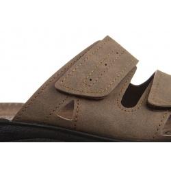 Papuci barbati Mjartan 2914-N14 bej reglabili cu arici