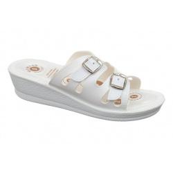 Papuci albi de vara pentru femei  Mjartan 2802-P03