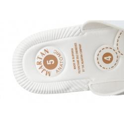 Papuci ortopedici femei Mjartan 2814 P03W albi, brant gel