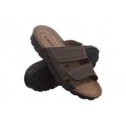 Papuci vara barbati Mjartan 2914-N15 maro