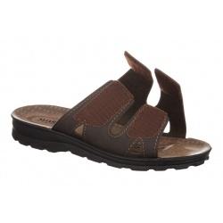 Papuci vara barbati Mjartan 2914-N15 maro reglabili cu arici