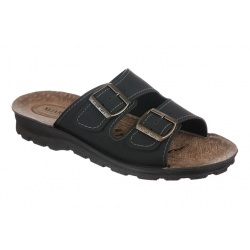 Papuci negri barbati Mjartan 2916-N18